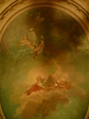 Hôtel de Camus - Français:   Plafond peint de l\'escalier de l\'hôtel Camus de Besançon