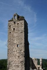 Château de Scey (également sur commune de Cléron) - Français:   Donjon du château de Scey à Chassagne-Saint-Denis (Doubs)
