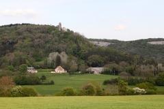 Château de Scey (également sur commune de Cléron) - Français:   Extrémité nord du ravin de Valbois.