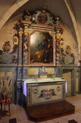 Eglise - Français:   Autel dans l\'église de Chaux-Neuve (Doubs).