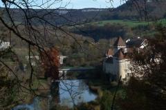Château -  Château de Cléron vue de la façade sud depuis la route d'Amondans
