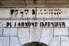 Fort Malher du Larmont inférieur - English:  Fort Mahler, northern main entrance, FORT MAHLER DU LARMONT INFERIEUR; Doubs, Franche-Comté, France.