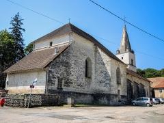Eglise - Vue arrière de l'église Saint-Jean-Baptiste d'Amancey. Doubs