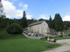 Eglise Saint-Maurice - Français:   La chapelle Saint-Maurice et l\'église.