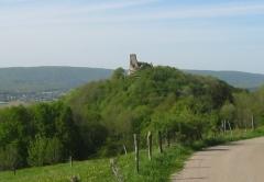 Château (ruines) -  Ruines du Chateau de Montfaucon pres de Besancon dans le Doubs
