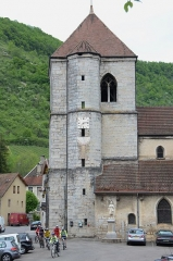 Eglise -  church of Veuillafans along the Loueriver with traditional architecture building style