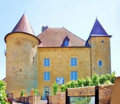 Château Pécaud et Tour Velfaux - Français:   Façade du château Pécaud. Musée de la vigne et du vin. Arbois. Jura.
