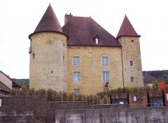 Château Pécaud et Tour Velfaux - Français:   Château Pécaud. Musée de la vigne et du vin. Arbois. Jura.