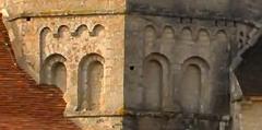 Abbaye -  Arcatures romanes de l'église de Gigny