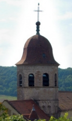 Abbaye -  Clocher de l'église de Gigny