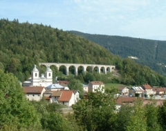 Viaduc -  Morbier et le viaduc