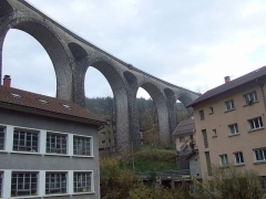 Viaduc -  The major landmark of Morez, in the Jura, France.