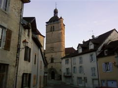 Eglise Notre-Dame de l'Assomption - English: The church of Notre-Dame in Orgelet, a small town in the French Jura, near Lons-le-Saunier. Remarkable because of its fortified bell tower, which dates back to the 15th century.