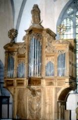 Eglise Notre-Dame de l'Assomption -  Orgue de l'église d'Orgelet,un des plus anciens du Jura, reconstruit par Marin Carouge en 1724, restauré par Bernard Aubertin en 1985.