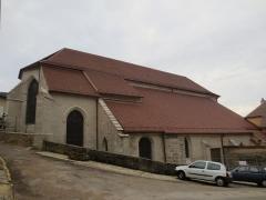 Ancien couvent des Jacobins - Français:   Couvent des Jacobins de Poligny: vue arrière de l\'église