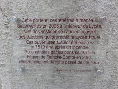Ancien couvent des Jacobins - Français:   Couvent des Jacobins / lycée hôtelier de Poligny