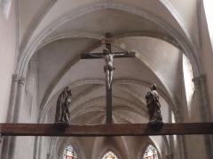 Eglise Saint-Hippolyte - Calvaire de la collégiale Sr Hypolite, sur poutre base de la voûte de la nef