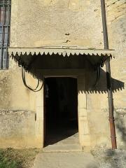 Eglise paroissiale Saint-Aignan - Français:   Porte sur le côté de l'église Saint-Aignan de Ruffey-sur-Seille (Jura).