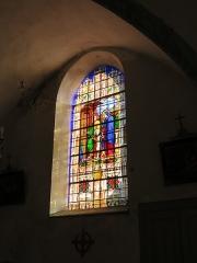 Eglise paroissiale Saint-Aignan - Français:   Vitrail de l'église Saint-Aignan de Ruffey-sur-Seille (Jura).