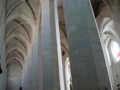 Cathédrale Saint-Pierre -  Cathedral of Saint-Claude, Jura, France. Nave.