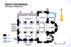 Eglise - Deutsch: Saint-Hymetière, Grundriss