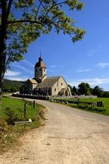 Eglise - Deutsch: Saint-Hymetière, Übersicht von N-W