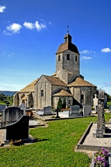 Eglise - Deutsch: Saint-Hymetière, von NW
