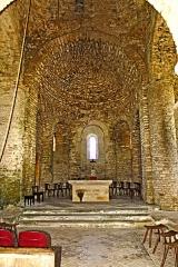 Eglise - Deutsch: Saint-Hymetière, Chorapsis, große und kleine Blendarkaden