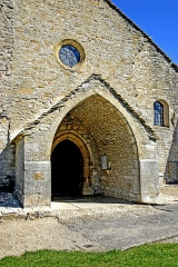 Eglise - Deutsch: Saint-Hymetière, Hauptportal im Narthex