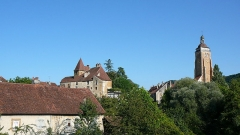 Château Bontemps - English: Bontemps castle and Saint-Just church of Arbois, France.