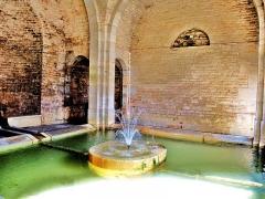 Mairie-Lavoir - Français:   Bassin de la fontaine du village.