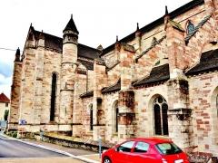Ancienne abbaye Saint-Colomban - Façade Nord de l'abbatiale de la ville de Luxeuil-les-Bains, département de la Haute-Saône.