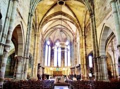 Ancienne abbaye Saint-Colomban - Nef de l'abbatiale de la ville de Luxeuil-les-Bains. Département Haute-Saône. France.