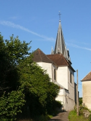 Eglise - English: Church of Maizières, in Haute-Saône (France) - back of the building