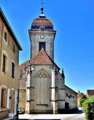 Eglise Saint-Hilaire - Eglise Saint Hilaire, vue de l'arrière. Pesmes, Haute-Saône