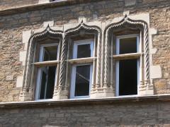 Maison du 15e siècle, dite Hôtel Thomassin - Français:   hôtel Thomassin (Vesoul, Haute-Saône): fenêtres
