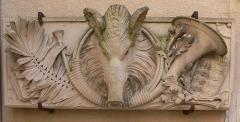 Couvent des Ursulines - Français:   Couvent des Ursulines de Vesoul. Haut-relief dans la cour sur rue