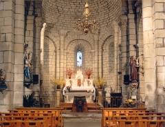 Eglise Sainte-Marie -  Intérieur de l'église de Baraigne (Aude-France)