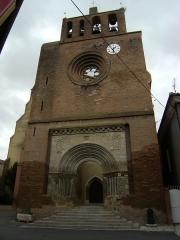 Eglise Saint-Saturnin - English: Facade of St Saturnin church in Belpech, Aude.