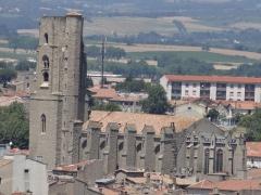 Eglise Saint-Vincent - English: Église Saint-Vincent de Carcassonne seen from the Château de Carcassonne