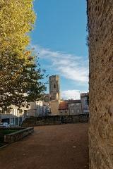 Eglise Saint-Vincent - English: Carcassonne - at Bastion de Saint-Martial - View South towards Saint-Vincent Church
