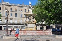 Fontaine monumentale -  La fontaine de Neptune, Place Carnot; Carcassonne, Languedoc-Roussillon, France