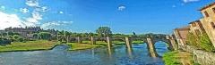 Pont-Vieux - English: City of Carcassonne, Bridge over the Aude River(Southwest of France)
