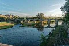 Pont-Vieux - English: Carcassonne - Pont Neuf - View SSE on the Old Bridge / Pont Vieux