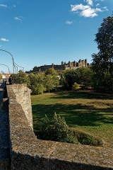 Pont-Vieux - English: Carcassonne - Pont Vieux / Old Bridge - View ESE towards La Cité