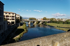 Pont-Vieux - English: Carcassonne - Pont Vieux / Old Bridge - View NNE on Pont Neuf / New Bridge