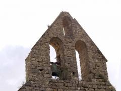 Eglise de Saint-Pierre-d'Alzonne -  Clocher-mur de l'église Notre Dame (XIVe siècle)