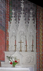Eglise Saint-Vincent -  The altar and the altarpiece of the Chapel of St. John the Baptist.