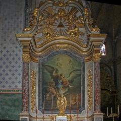 Eglise Saint-Vincent -  St. Michael weighing souls painting by J.B. Despax.