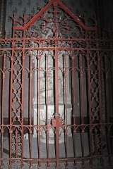 Eglise Saint-Vincent -  The baptismal bowl are locked and the photo missed!....
